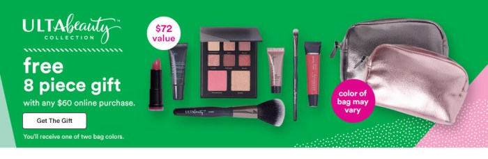 Ulta Black Friday Deal: Free 8 piece makeup bag