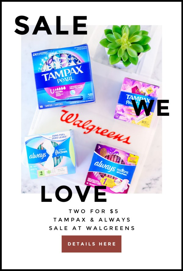Now is a great time to stock up on Tampax & Always at @Walgreens! Through 4/24, you can score select products 2/$5! I'm sharing all of the details on the blog.