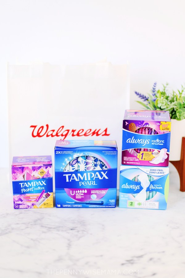 2/$5 Tampax Always Sale at Walgreens
