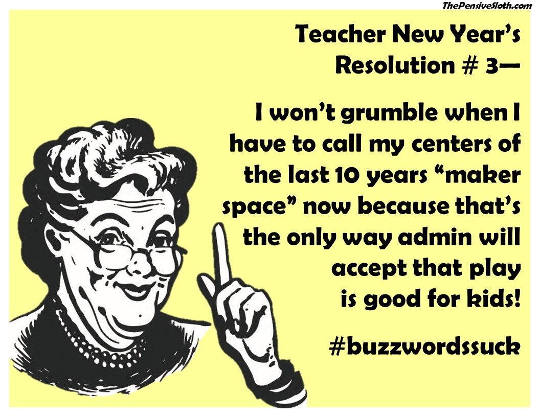 Teacher New Year S Resolutions Version