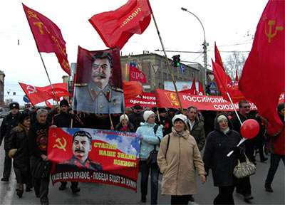Patriotic parade with Stalin