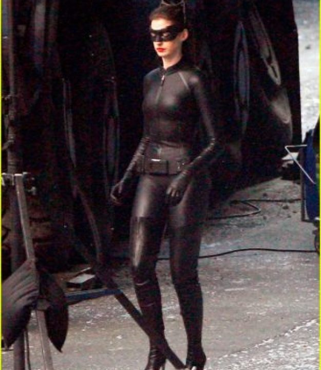 Images of Anne Hathaway In Full Catwoman Uniform!