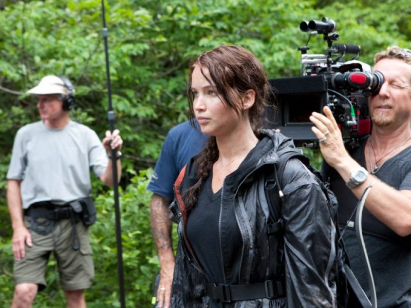 A new behind the scenes image from The Hunger Games (It's a wrap too for the film!)