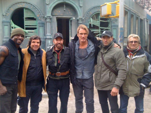 Let's Say Hello To Chuck Norris In First Image Of The Cult Star On The Expendables 2 Set