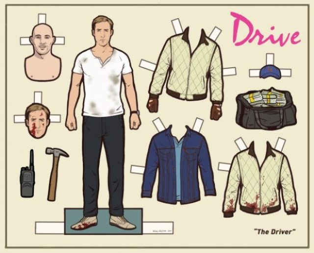 COOL STUFF: Own Your Very Own Ryan Gosling DRIVE Paperdoll