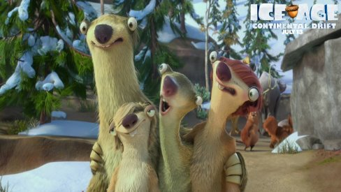 Scrat's Nut Forms Australia in New UK TV Spot For ICE AGE 4:CONTINENTAL DRIFT, Lets Do The 'Sid Shuffle'