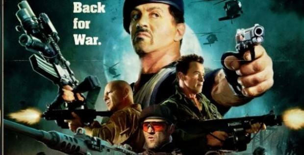 The Expendables 2 Go Retro For New Comic Con Poster