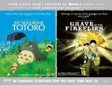 Ghibli Double Bill Quad - Totoro & Fireflies