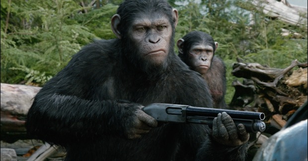All Guns Blazing On Horseback In Dawn Of The Planet Of The Apes Stills