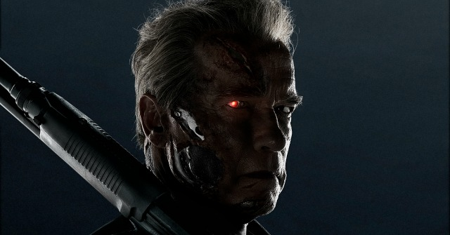 Arnie Shows A Bit Of Skin (Metal) In Terminator: Genisys Motion Poster