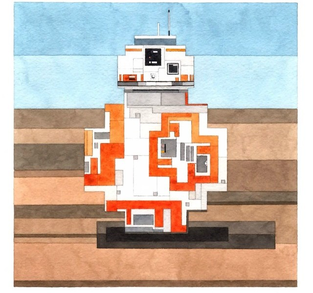 Iconic Film And TV Goes '8-Bit' Watercolour