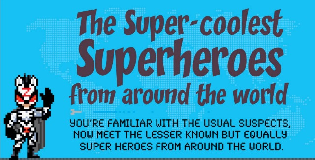 Meet The Superheroes From Around The World [Infographic]