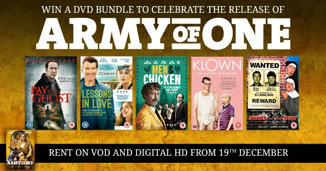 Win a DVD bundle to support the release of Army of One!