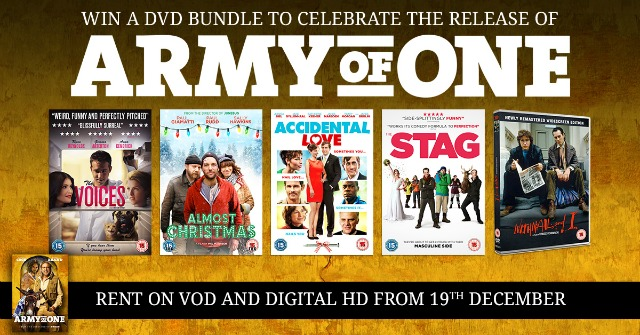 Win a DVD bundle to support the release of Army of One![Comp 2]