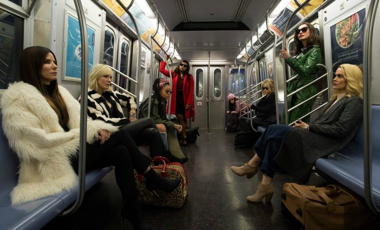 Ocean's 8 Cast Take Subway In First Look Image
