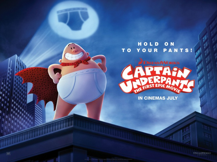 Image result for captain underpants the first epic movie uk poster