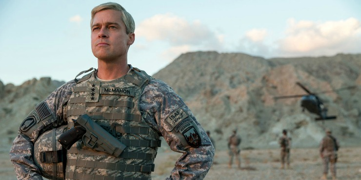 In New War Machine Trailer Brad Pitt Attempts To Liberate The Sh*t Out Of You