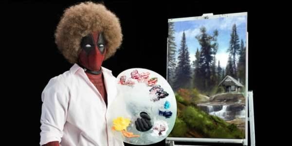 Deadpool Is Getting 'Wet' As Bob Ross In Deadpool 2 First Trailer