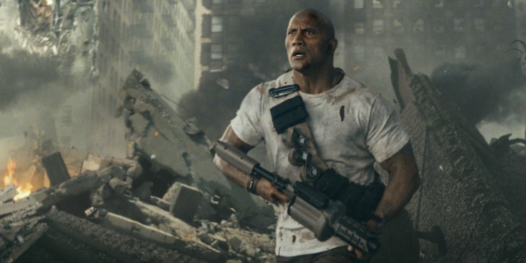 Dwayne Johnson Versus The Giant Beasts In Rampage First Trailer
