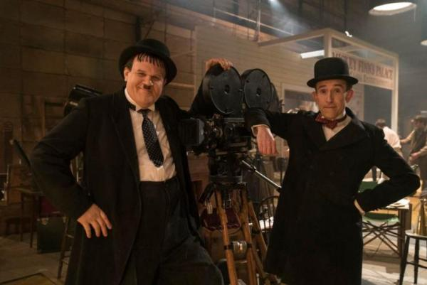 Stan & Ollie take a bow at the top of the Official Film Chart