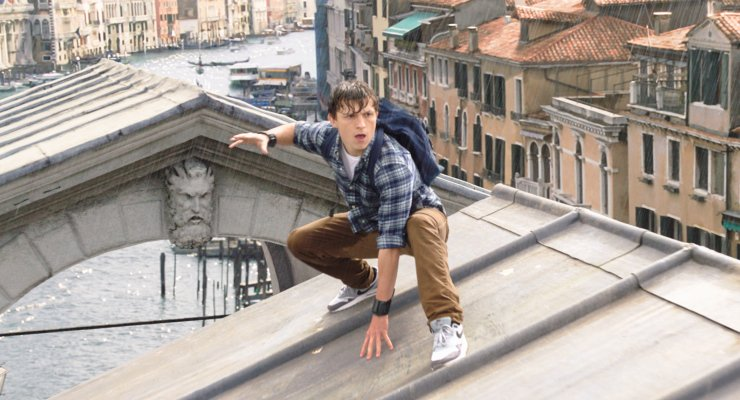 Peter Parker In Europe In New Spider-Man: Far From Home posters