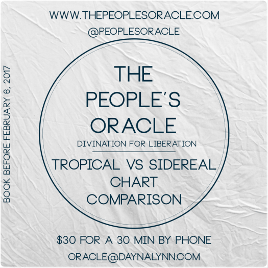 Chart Comparison Reading - Tropical vs Sidereal