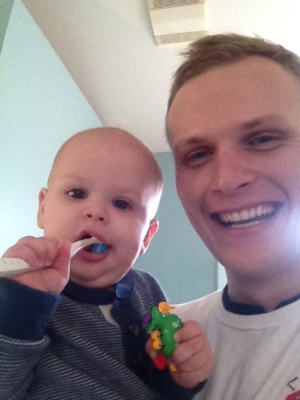 brushing our teeth