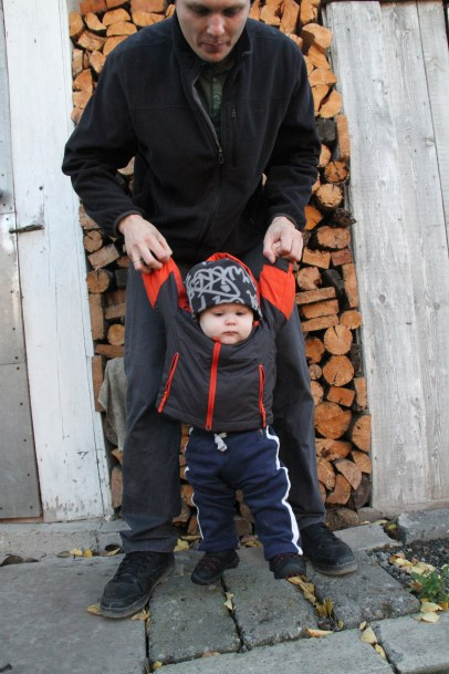 checking the firewood stock