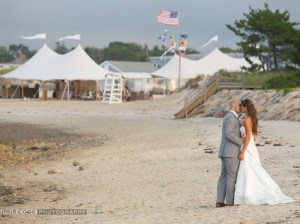 Beachfront wedding on Cape Cod