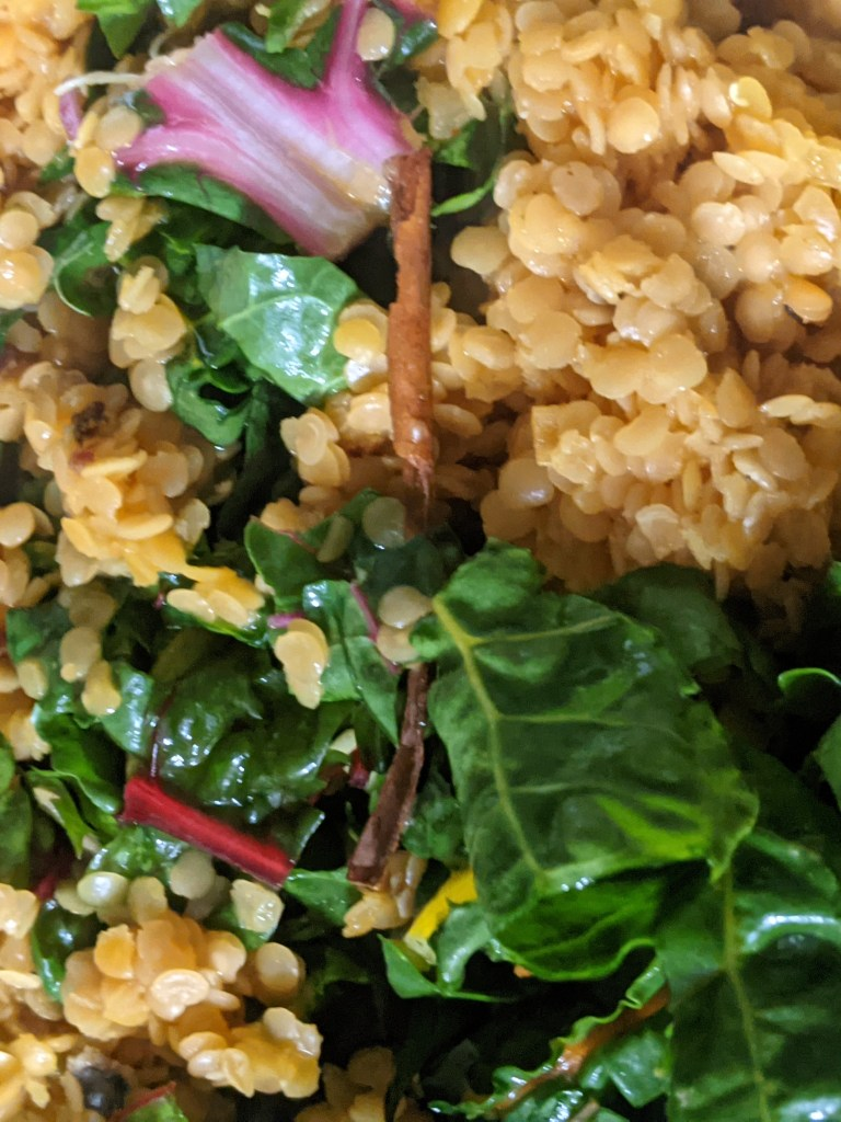 Image of Swiss Chard in a Lentil Curry
