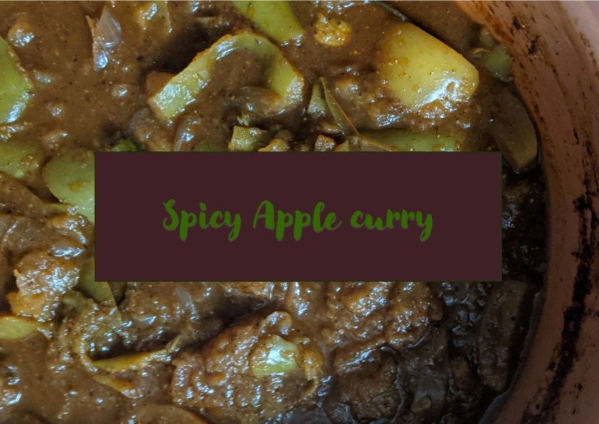 Spicy apple curry sauce