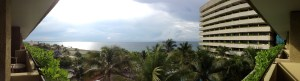 A panoramic view from our hotel balcony.