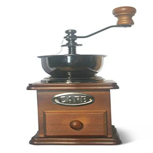 traditional wooden hand grinder