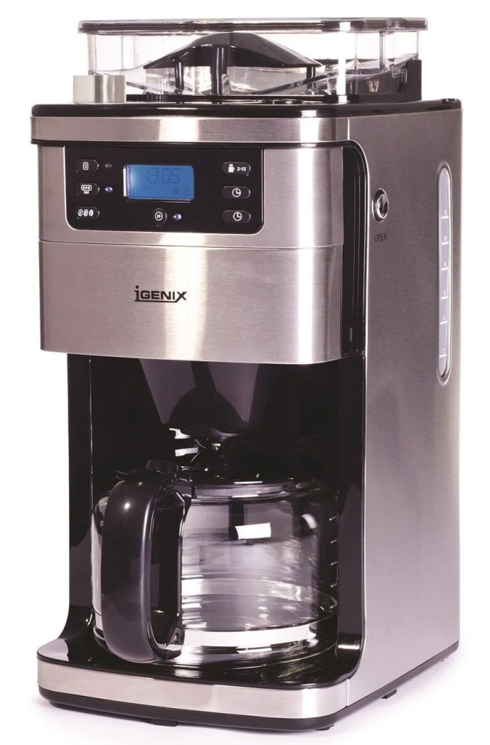 8e9b429fb96 Igenix IG8225 Bean to Cup Filter Coffee Maker UK Review 2019