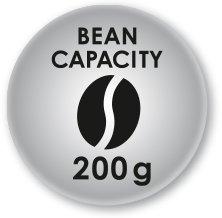 200 gram coffee bean capacity