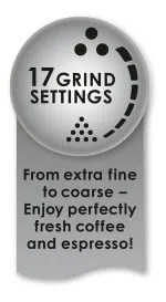 17 different grind settings