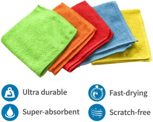 S&T INC. Microfiber Cleaning Cloth, 50 Pack