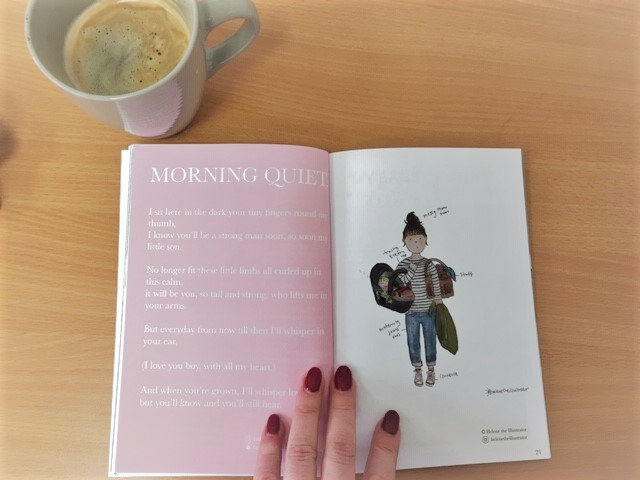 Morning quiet poem from the Positive Wellbeing Zine for Mums