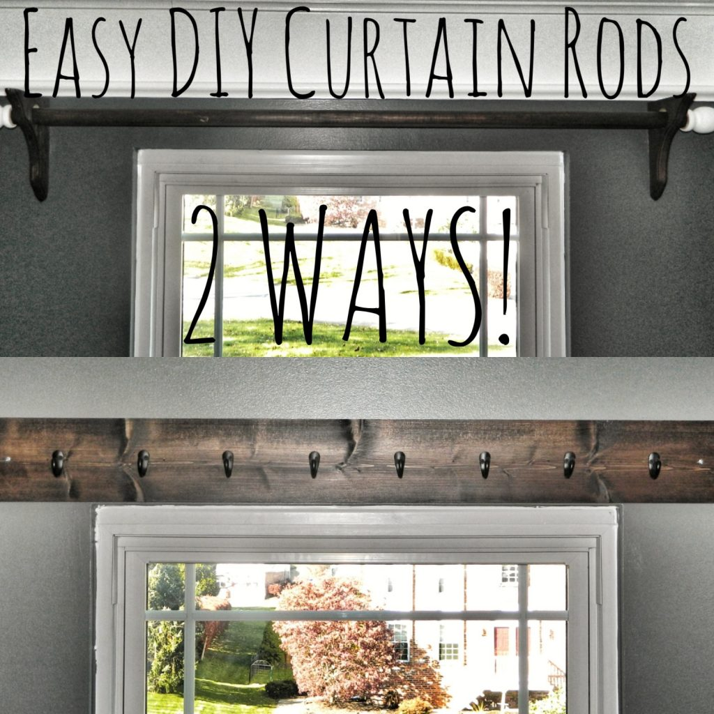 easy diy curtain rods the perfectly