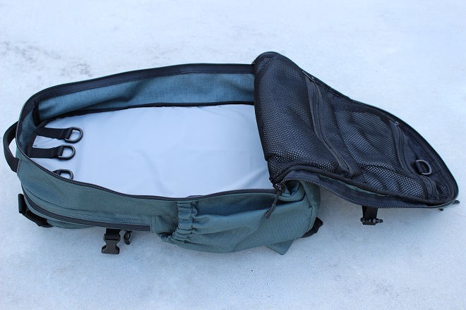 Alpha One Niner EVADE main compartment clamshell shot
