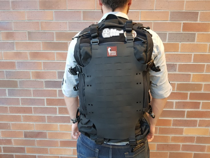 Hill People Gear Aston House Backcountry review on body back profile