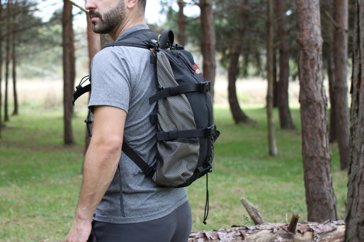 Hill People Gear Tarahumara Review side view wearing on back