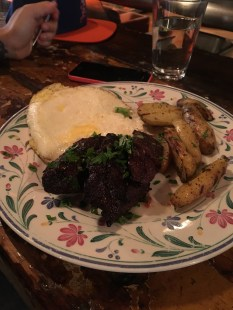Steak & eggs with fingerlings