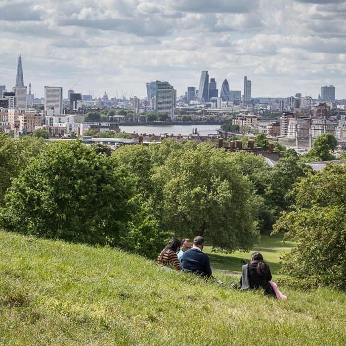Thames and the City of London from Greenwich Park