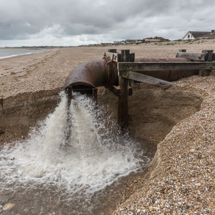 Outfall, Aldwick, Sussex.
