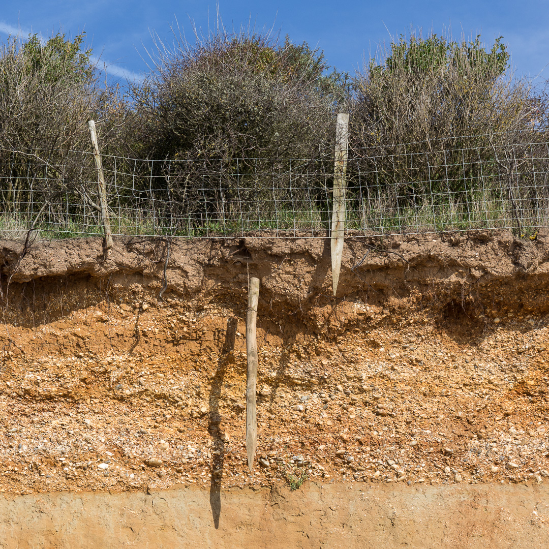 Erosion at Brownwich Cliff, Hampshire.