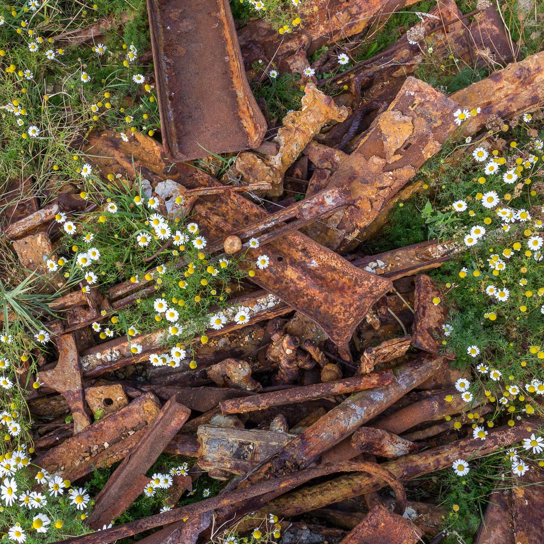 Wreck steel, Hook Park, Hampshire.