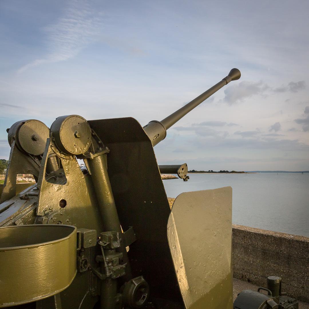 WW2 Anti-aircraft gun emplacement, Hamble Common Hampshire.