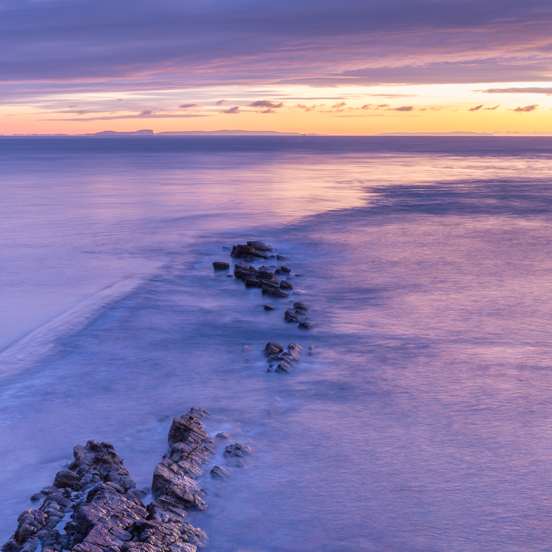 Peveril Point at dawn, Swanage, Dorset.