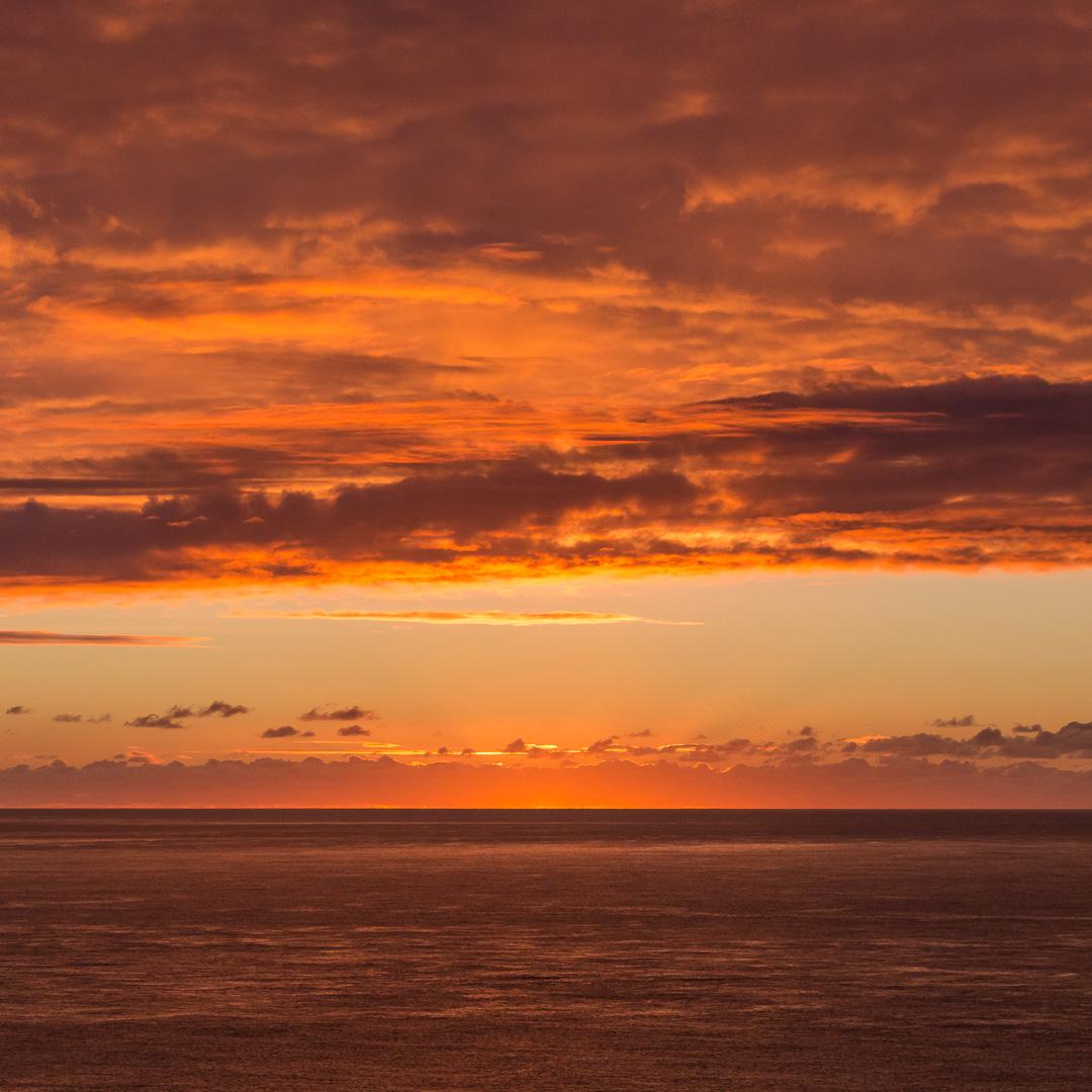 English Channel sunrise, Dorset.